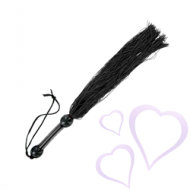 S&M - Medium Rubber Whip Musta