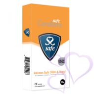 Safe, Intense Safe (Ribs & Dots) - Nautintokondomit, 10kpl