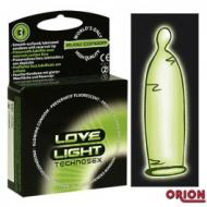 Love Light Glowing Condoms 3 kpl