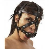 Headstraps with ball gag