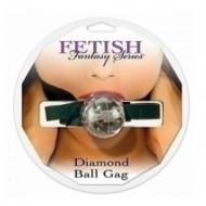 Diamond Ball Gag, clear - suupall
