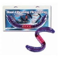 Dual Vibrating Flexi-Dong, kaksipäinen dildo