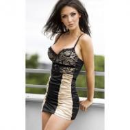 Dress lightgold/black