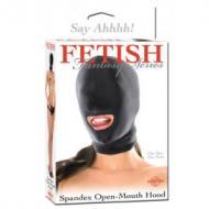 Spandex Open Mouth Hood, maski avatulla suulla