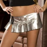 """7"""" PVC Mini Silver Skirt"""
