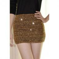 Elasticity Sequins Miniskirt Gold