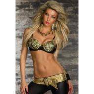 Kultaiset PUNK rintaliivit