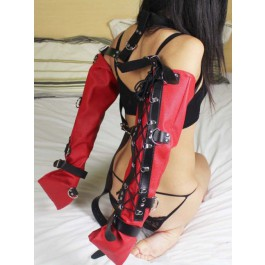 Bondage sleeves, red